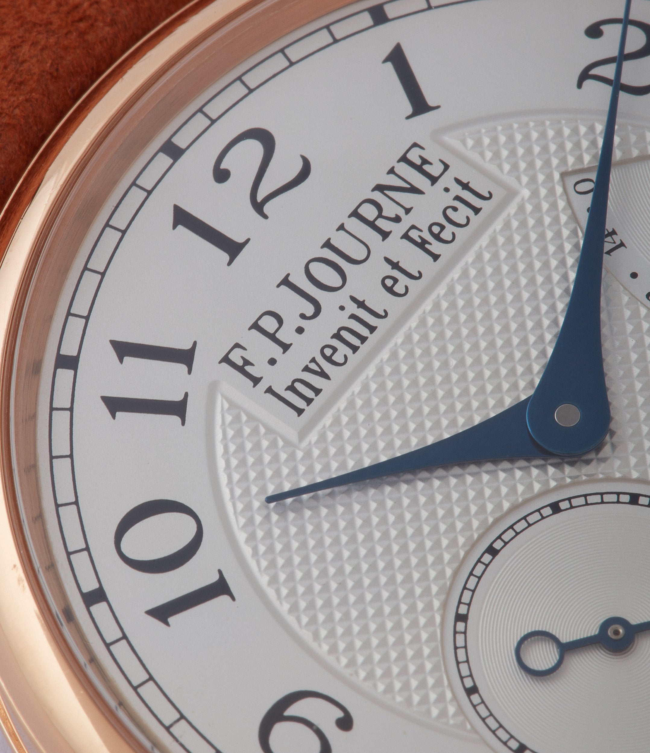 silver dial F. P. Journe Chronometre Souverain CS.RG.38 rose gold silver dial watch for sale online at A Collected Man London UK specialist of rare watches
