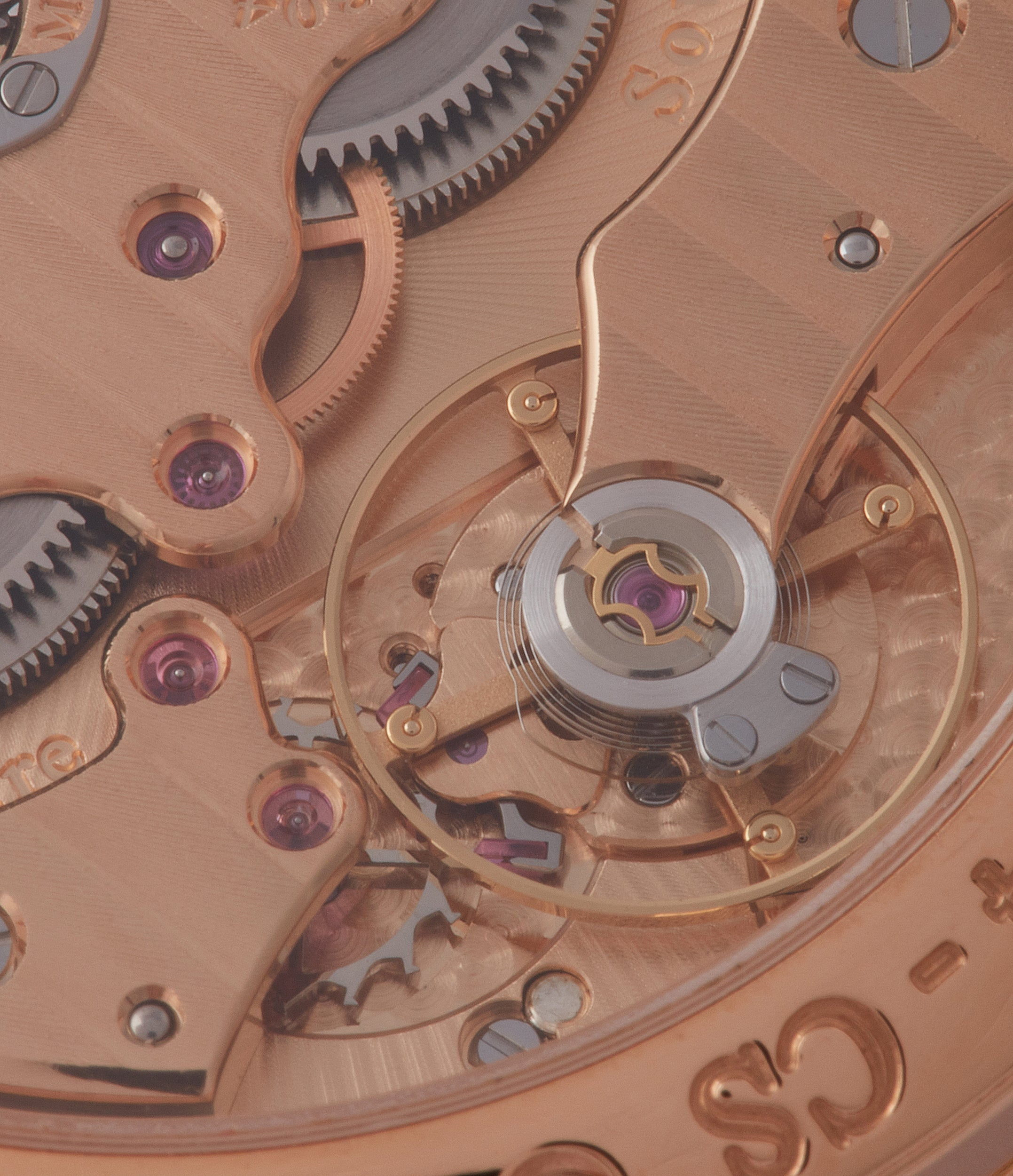 rose gold movement F. P. Journe Chronometre Souverain CS.RG.38 rose gold silver dial watch for sale online at A Collected Man London UK specialist of rare watches