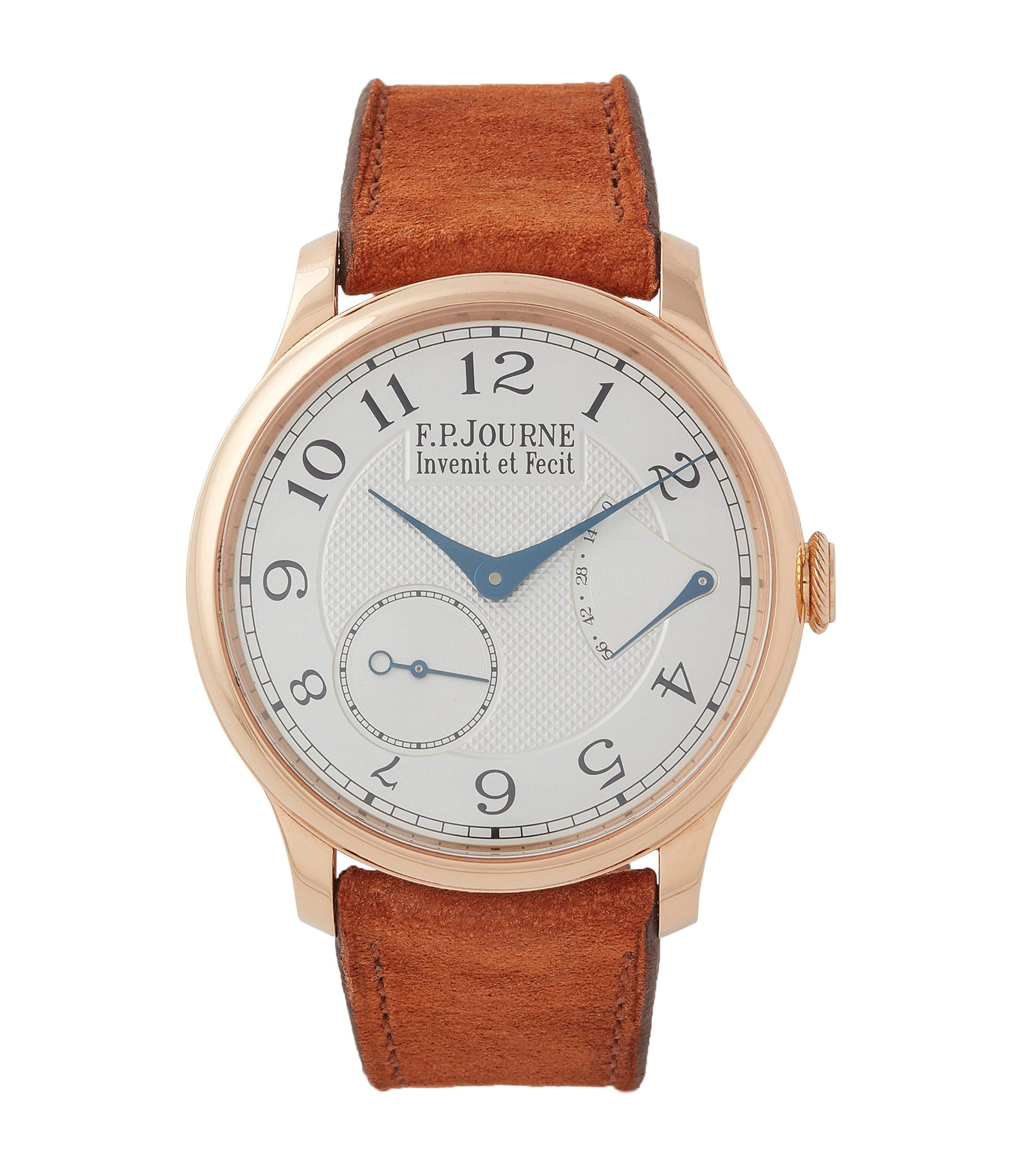 buy F. P. Journe Chronometre Souverain CS.RG.38 rose gold silver dial watch for sale online at A Collected Man London UK specialist of rare watches
