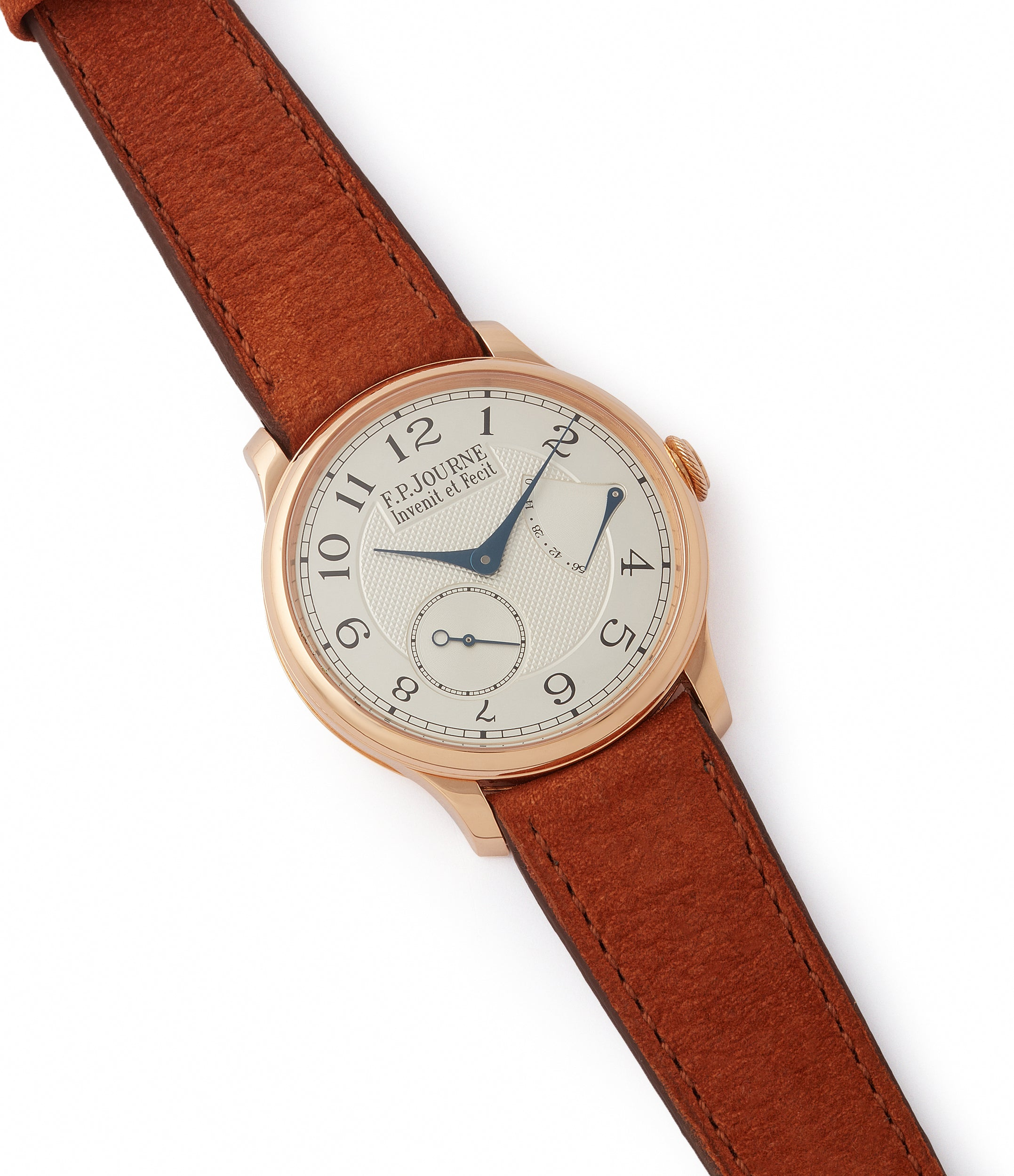 selling F. P. Journe Chronometre Souverain CS.RG.38 rose gold silver dial watch for sale online at A Collected Man London UK specialist of rare watches