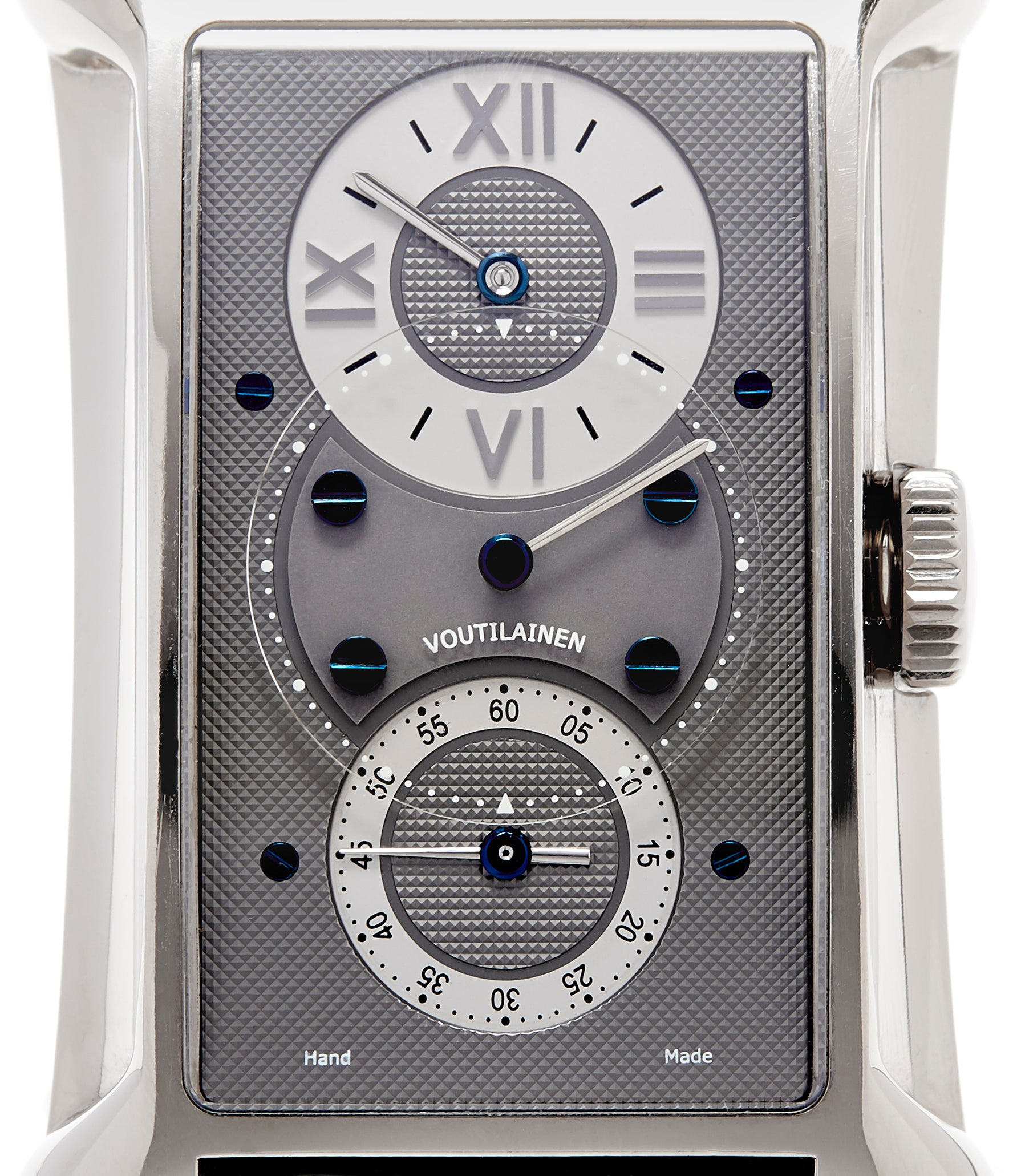 grey dial Voutilainen 27 Chronometre white gold Limited Edition white gold watch by Kari Voutilainen for sale online at approved re-seller A Collected Man London UK specialist of rare watches
