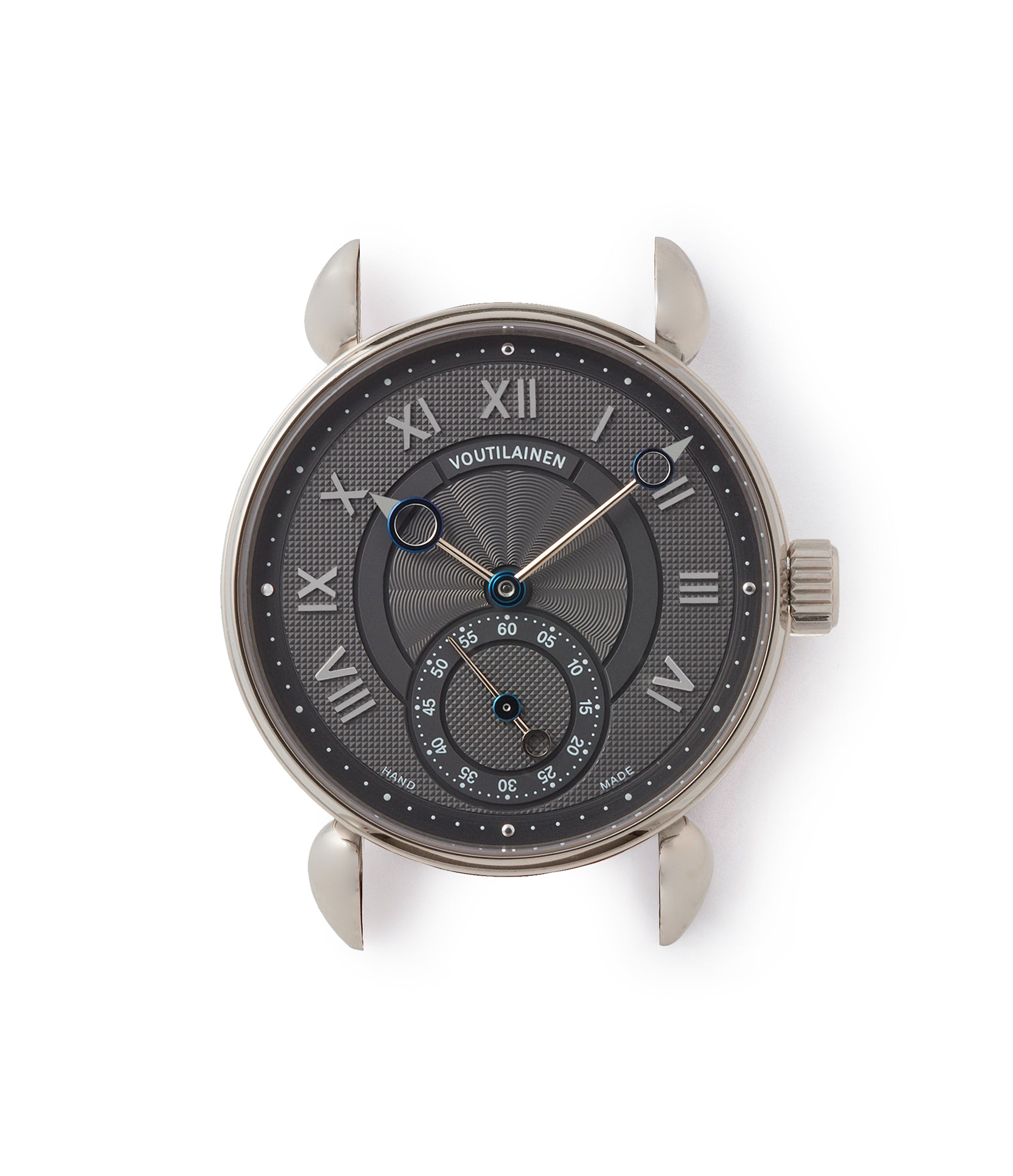 rare grey dial Voutilainen Observatoire dress watch by independent watchmaker for sale online at A Collected Man London approved re-seller of Voutilainen watches