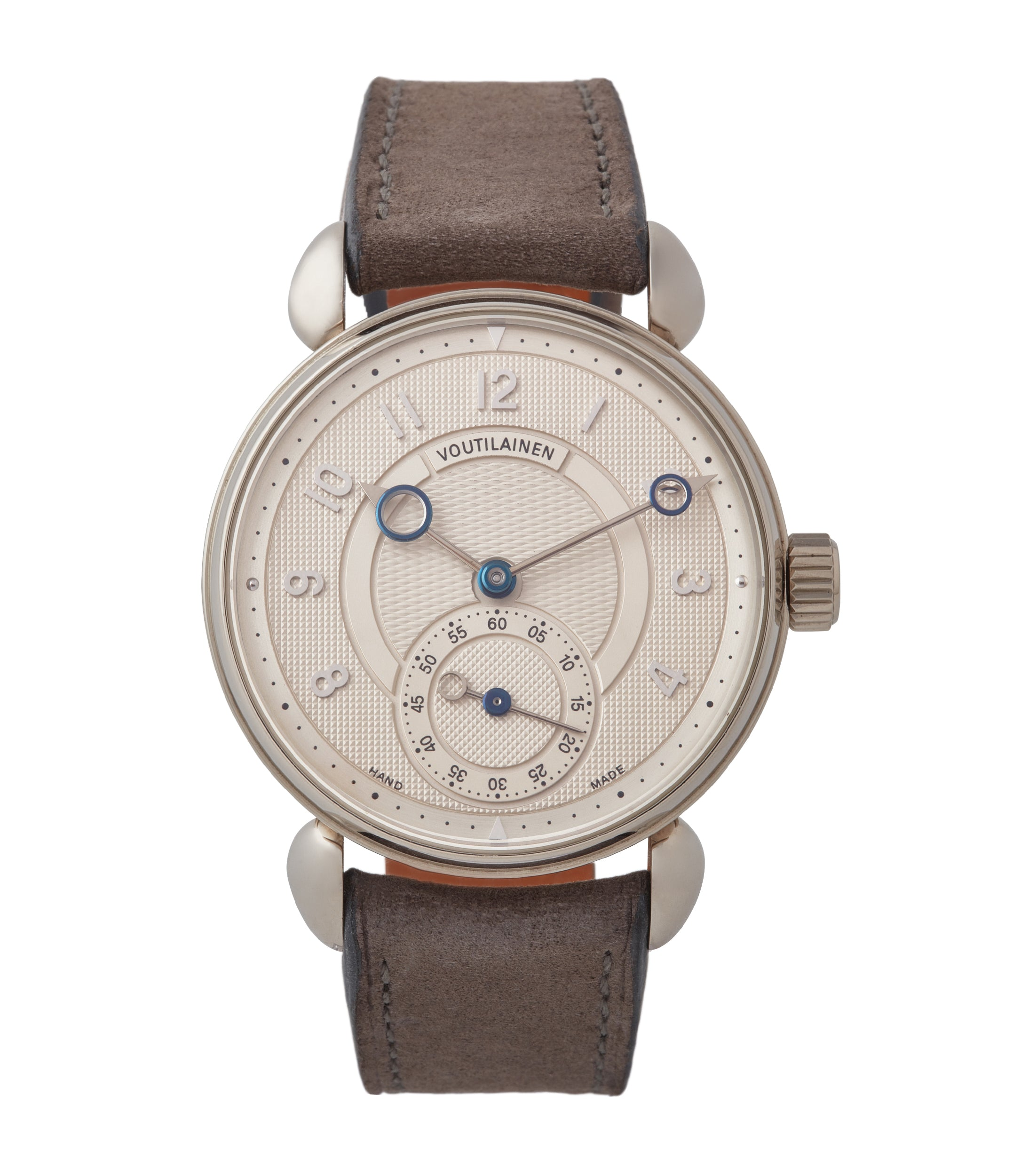 Buy Voutilainen Observatoire Limited Edition white gold dress watch independent watchmaker for sale online at A Collected Man London