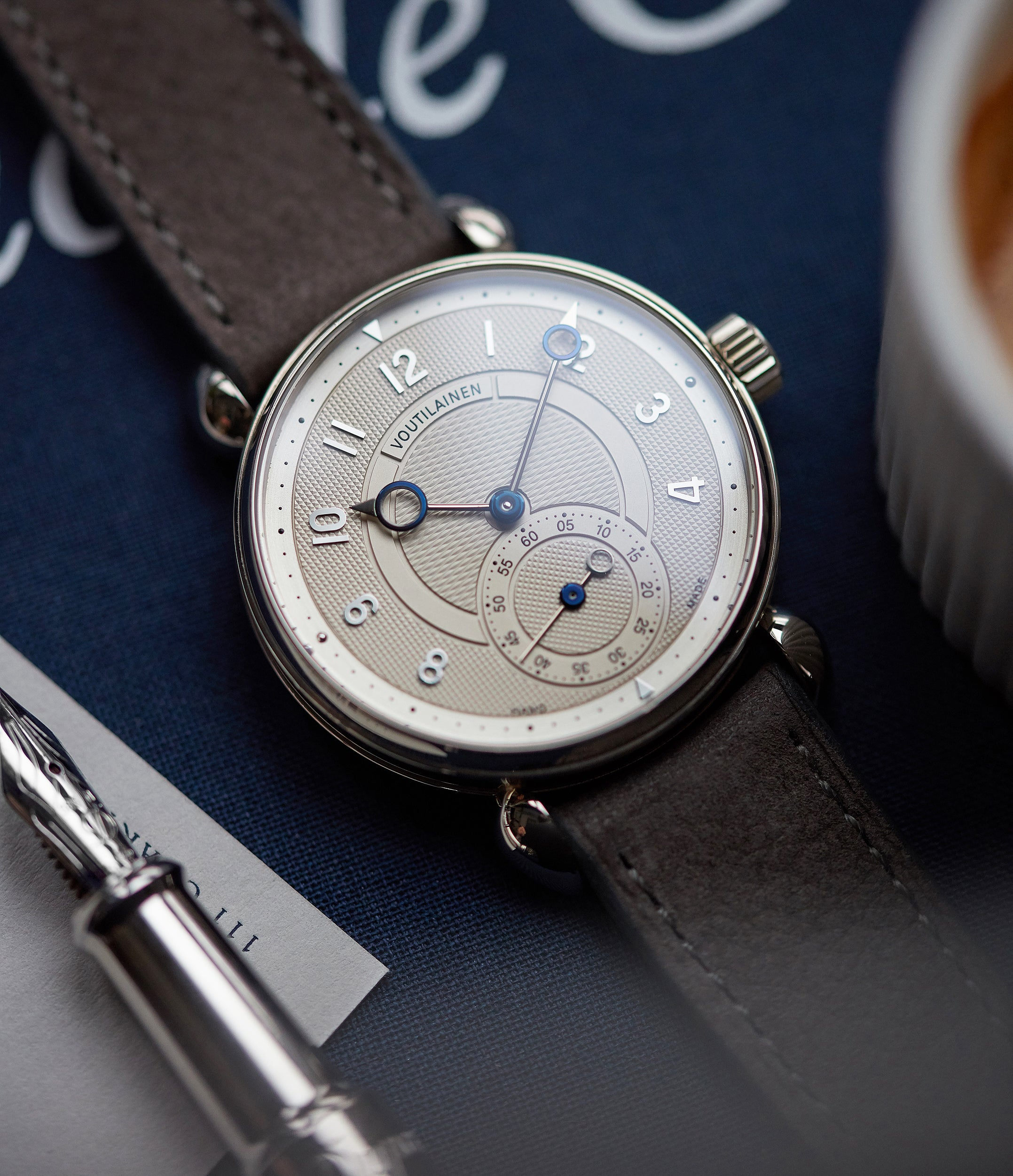 hand-made Voutilainen Observatoire Limited Edition white gold dress watch independent watchmaker for sale online at A Collected Man London