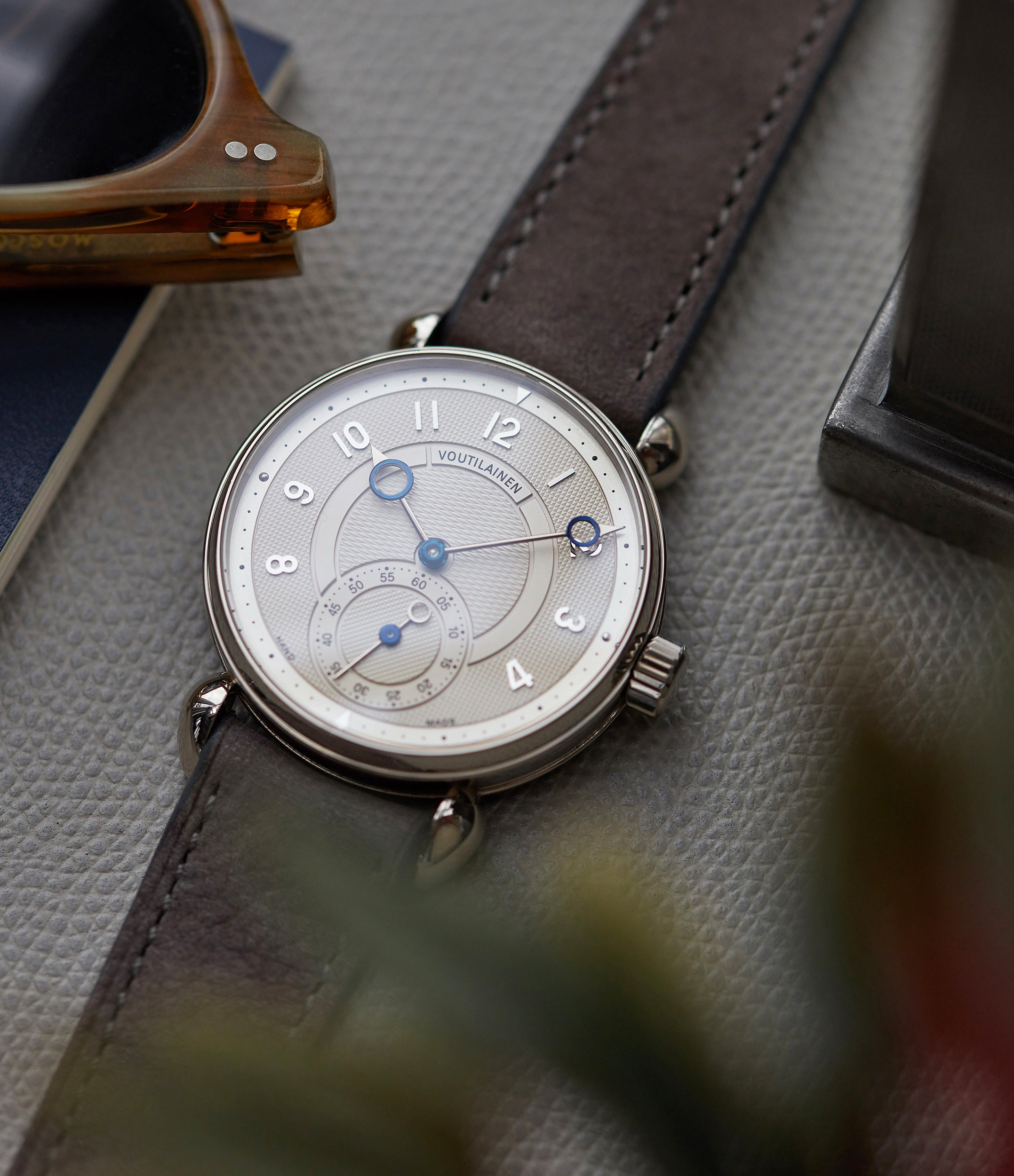 Observatoire Kari Voutilainen Limited Edition white gold dress watch independent watchmaker for sale online at A Collected Man London