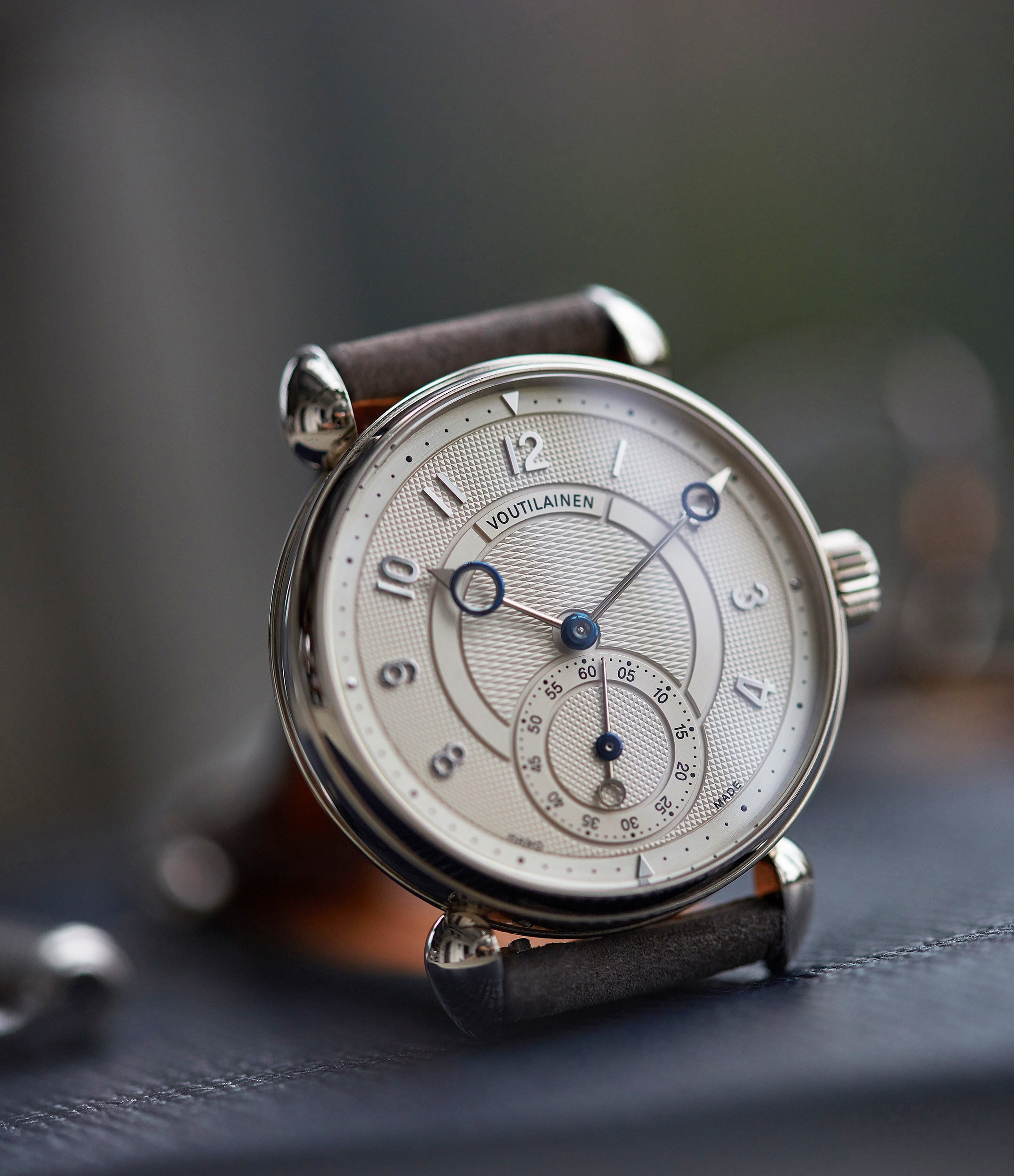 silver dial Voutilainen Observatoire Limited Edition white gold dress watch independent watchmaker for sale online at A Collected Man London