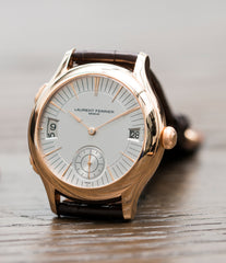 selling Laurent Ferrier Galet Traveller Micro Rotor LF 230.01 rose gold watch additional prototype dial for sale online at A Collected Man London UK approved reseller of preowned independent watchmakers