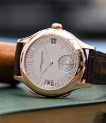 Traveller Laurent Ferrier Galet Micro Rotor LF 230.01 rose gold watch additional prototype dial for sale online at A Collected Man London UK approved reseller of preowned independent watchmakers