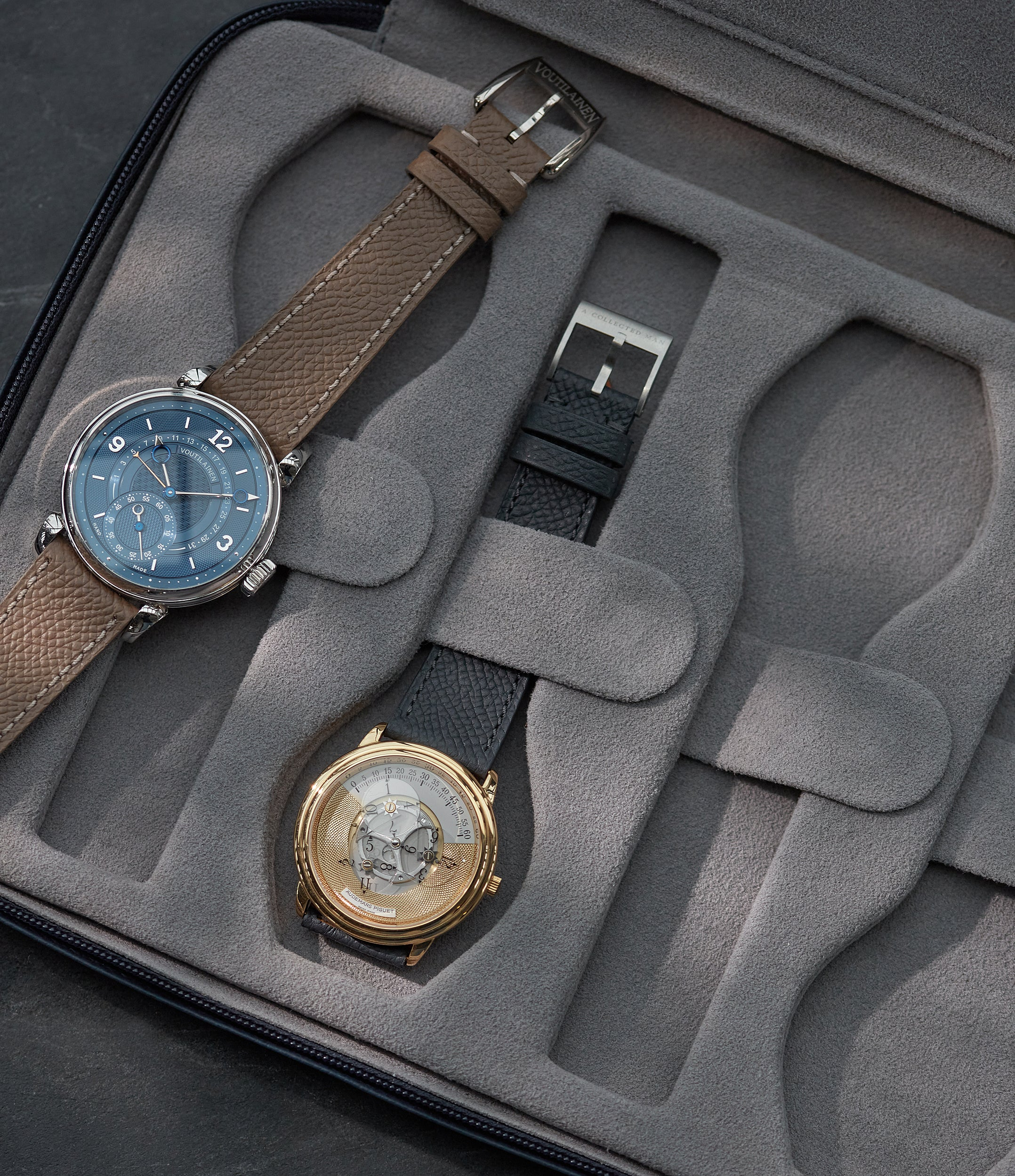 shop navy blue watch travel zip pouch accessories eight watches order online A Collected Man London