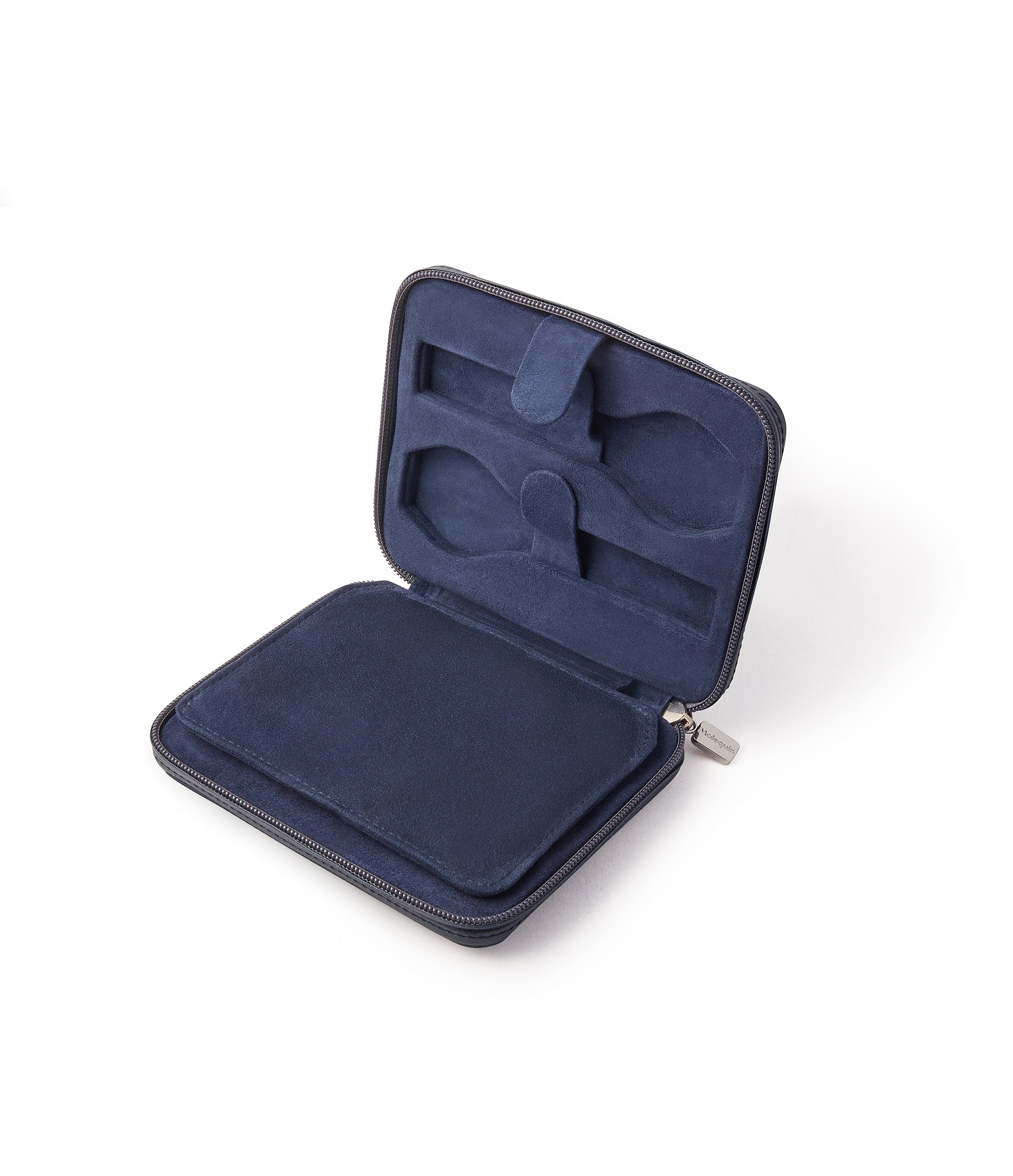 order navy blue leather watch travel zip pouch accessories four watches order online A Collected Man London