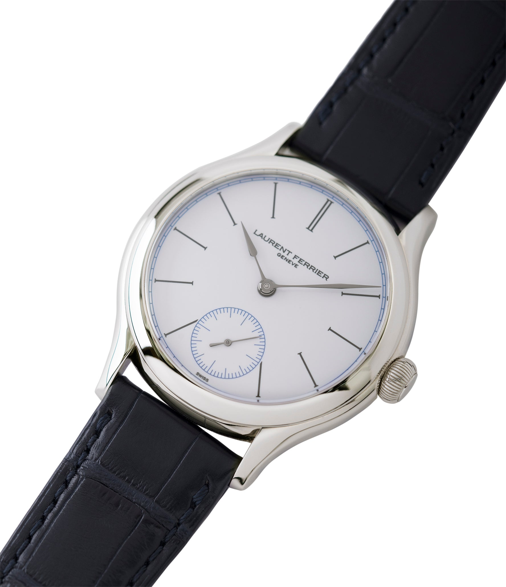 buy preowned Laurent Ferrier Galet Micro-Rotor FBN 230.02 Enamel dial steel watch for sale online at A Collected Man London UK approved seller of independent watchmaker Laurent Ferrier