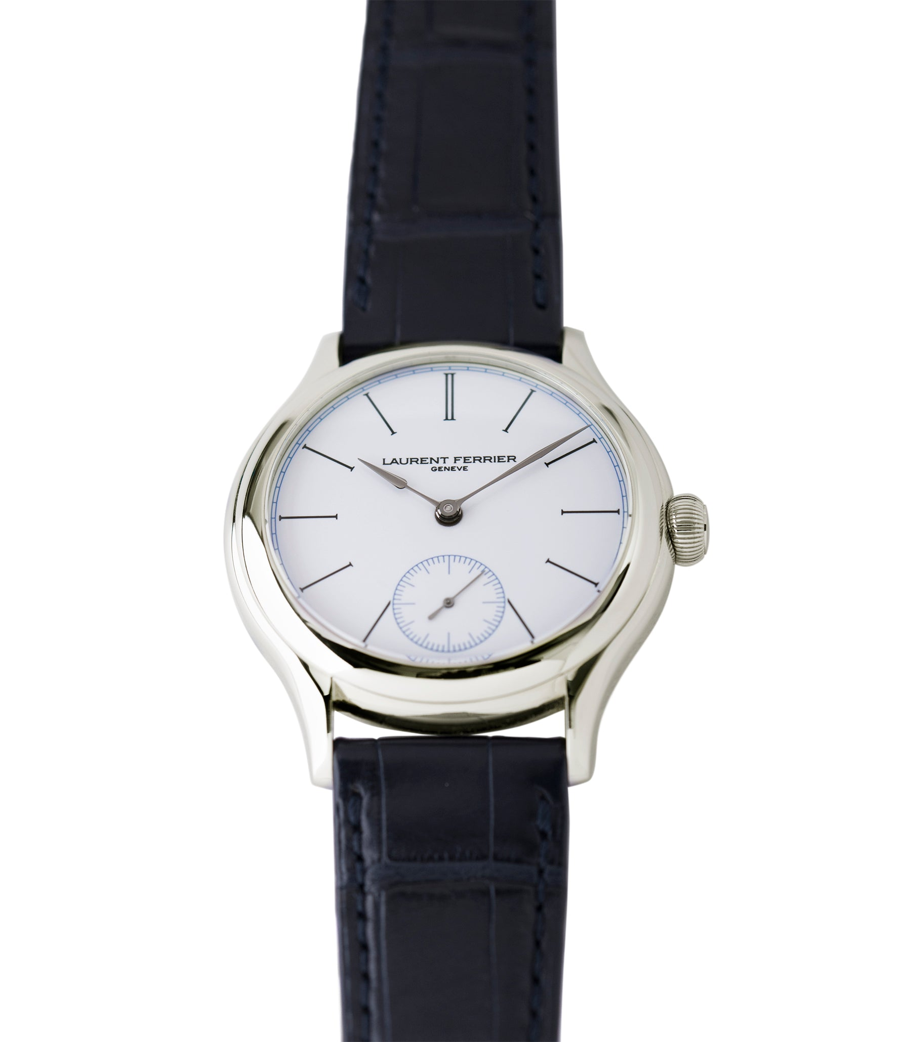 steel Laurent Ferrier Galet Micro-Rotor FBN 230.02 Enamel dial steel watch for sale online at A Collected Man London UK approved seller of independent watchmaker Laurent Ferrier