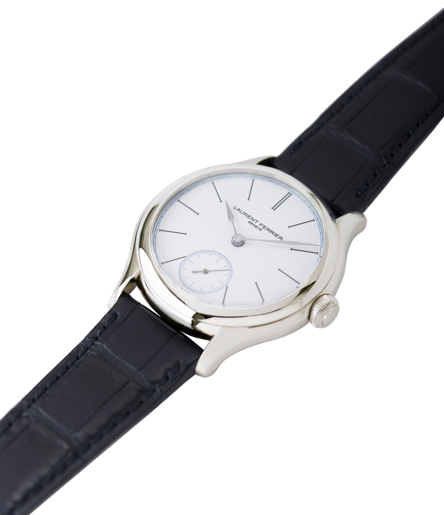 selling preowned Laurent Ferrier Galet Micro-Rotor FBN 230.02 Enamel dial steel watch for sale online at A Collected Man London UK approved seller of independent watchmaker Laurent Ferrier