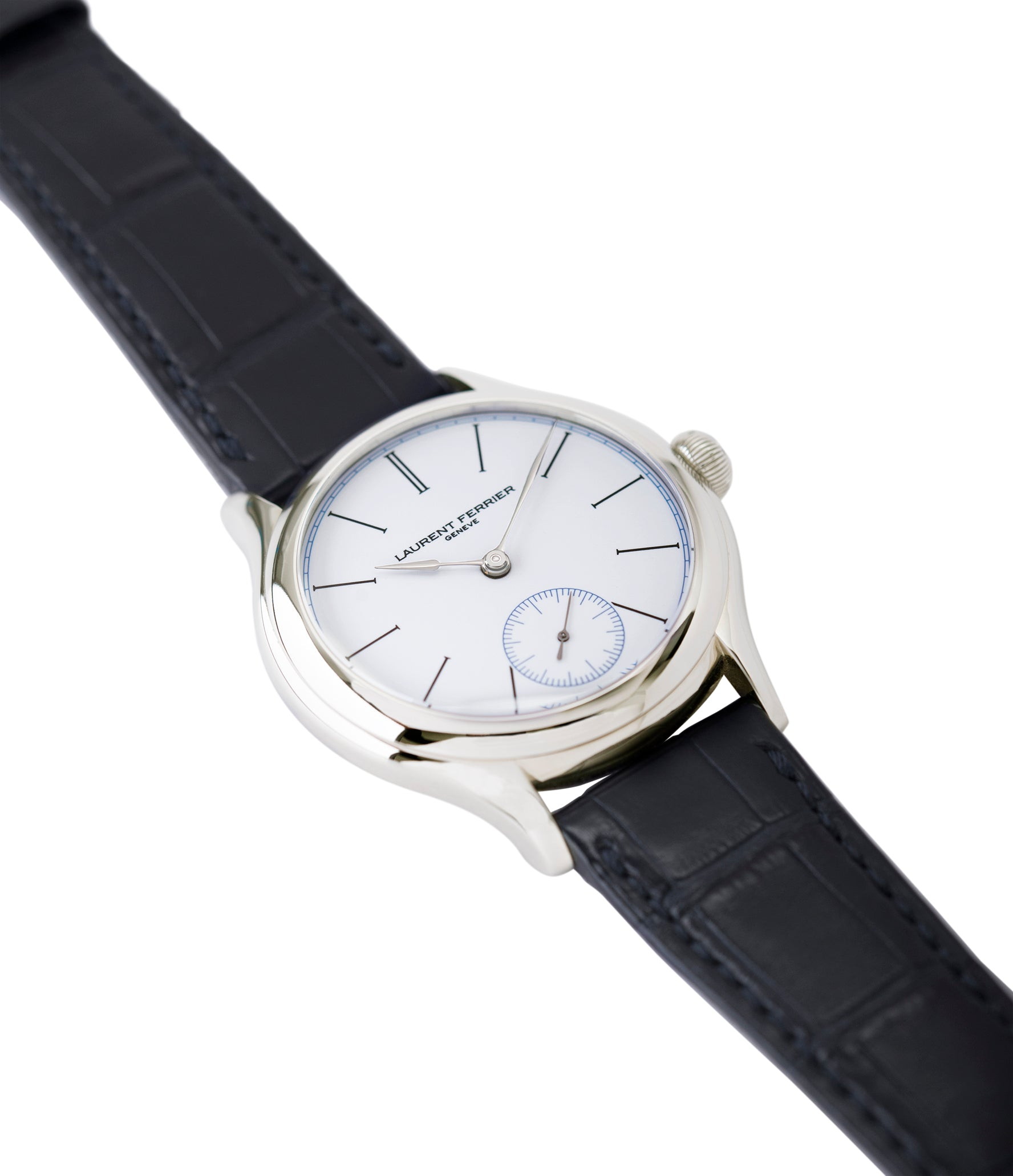 for sale Laurent Ferrier Galet Micro-Rotor FBN 230.02 Enamel dial steel watch for sale online at A Collected Man London UK approved seller of independent watchmaker Laurent Ferrier