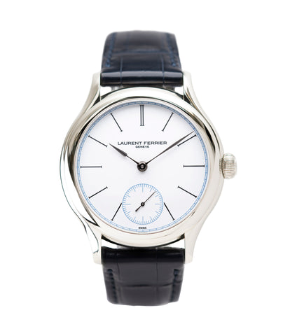 buy Laurent Ferrier Galet Micro-Rotor FBN 230.02 Enamel dial steel watch for sale online at A Collected Man London UK approved seller of independent watchmaker Laurent Ferrier