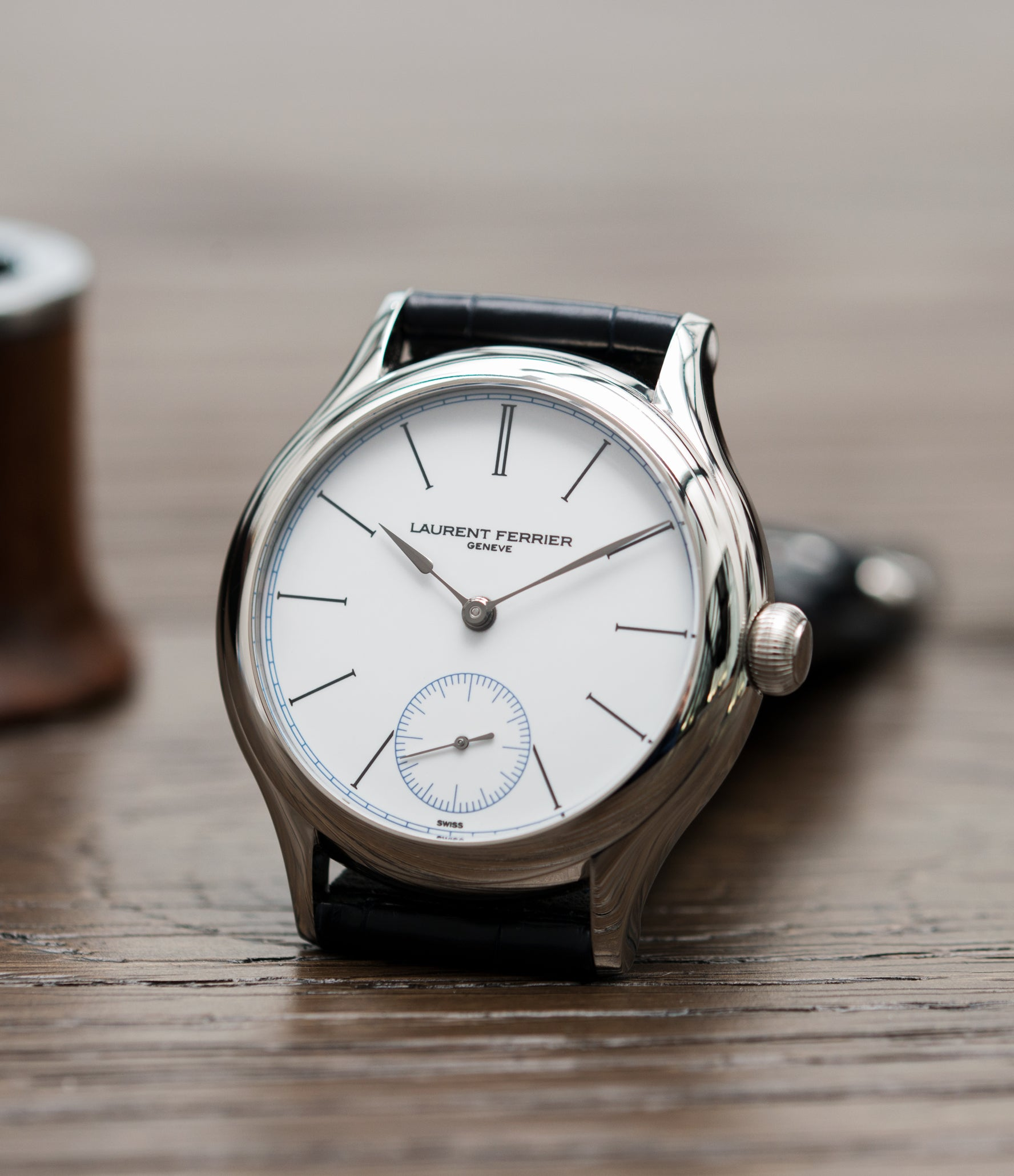 selling Laurent Ferrier Galet Micro-Rotor FBN 230.02 Enamel dial steel watch for sale online at A Collected Man London UK approved seller of independent watchmaker Laurent Ferrier