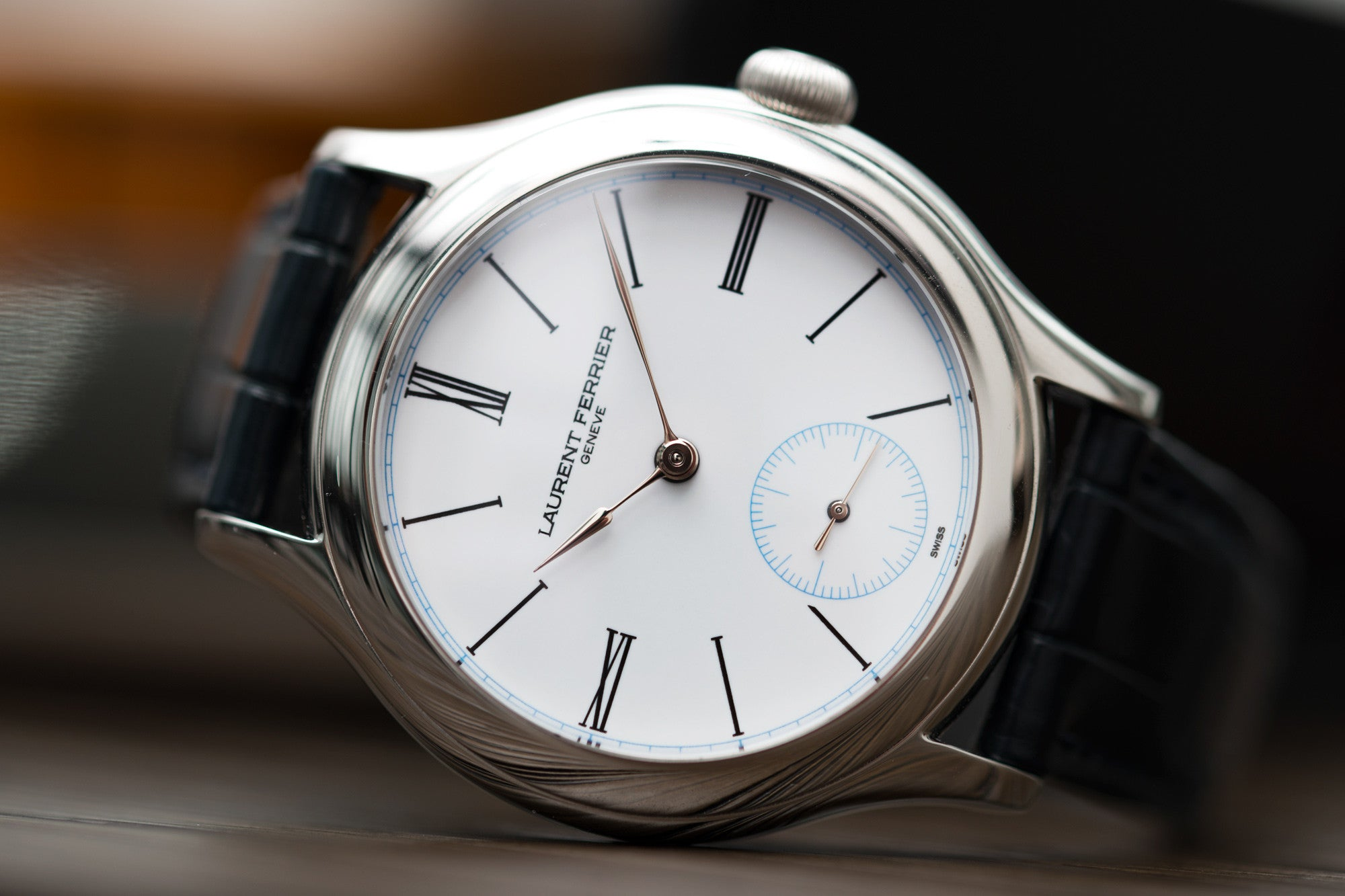 buy preowned Laurent Ferrier Galet Micro-rotor LCF006 platinum enamel dial limited edition watch for sale online at A Collected Man London specialist independent watchmakers