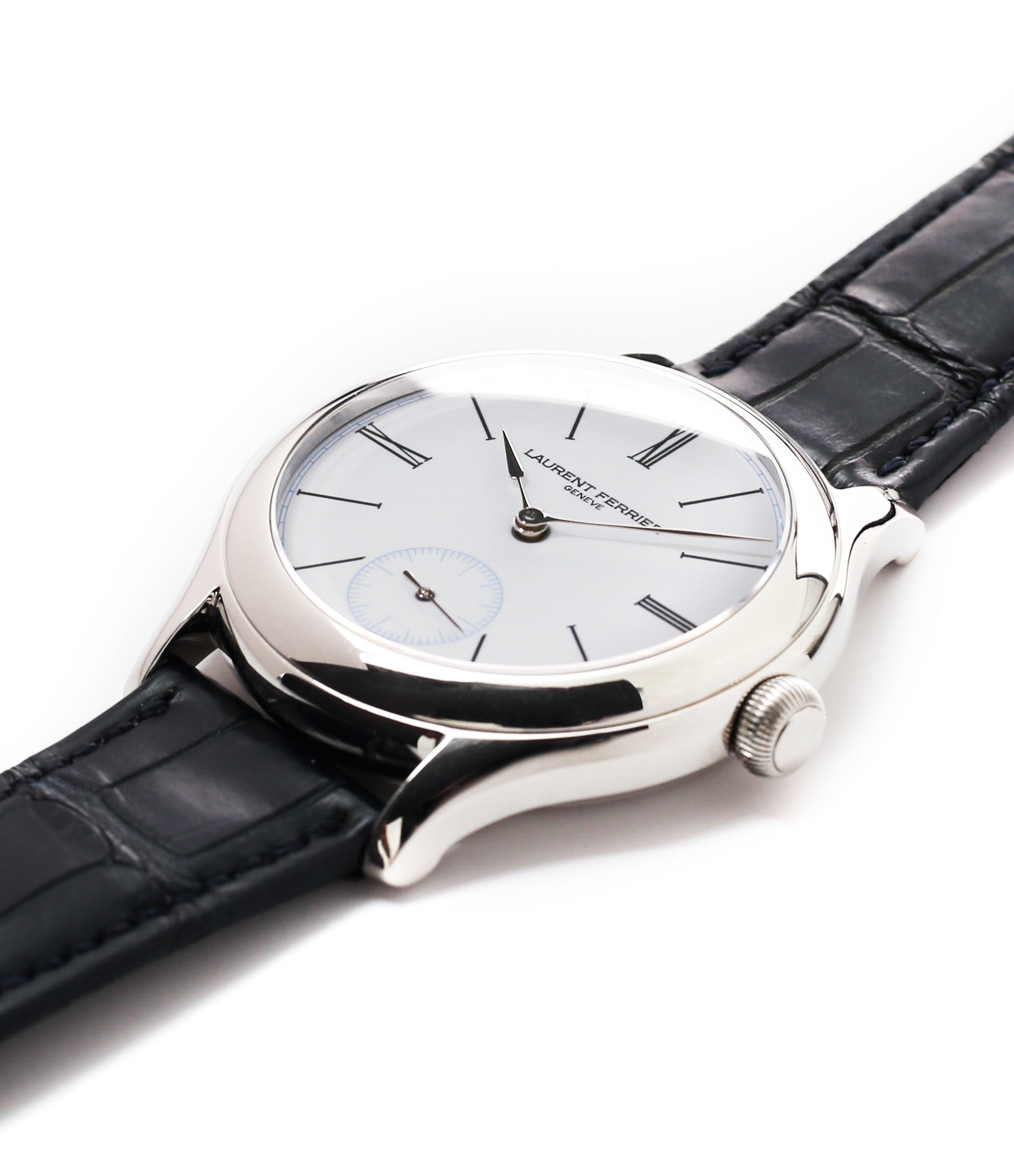 for sale Laurent Ferrier Galet Micro-rotor LCF006 platinum enamel dial limited edition watch for sale online at A Collected Man London specialist independent watchmakers