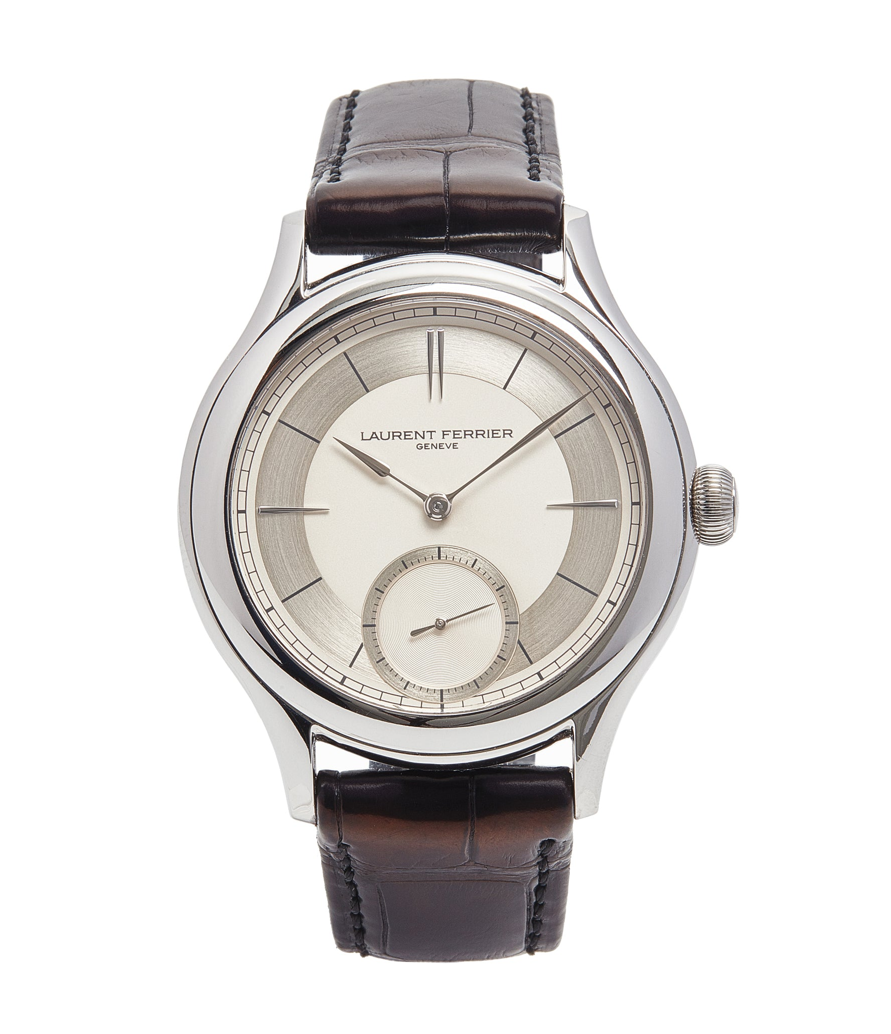 buy Laurent Ferrier Galet Micro-rotor 40 mm platinum time-only dress watch from independent watchmaker for sale online at A Collected Man London UK specialist of rare watches