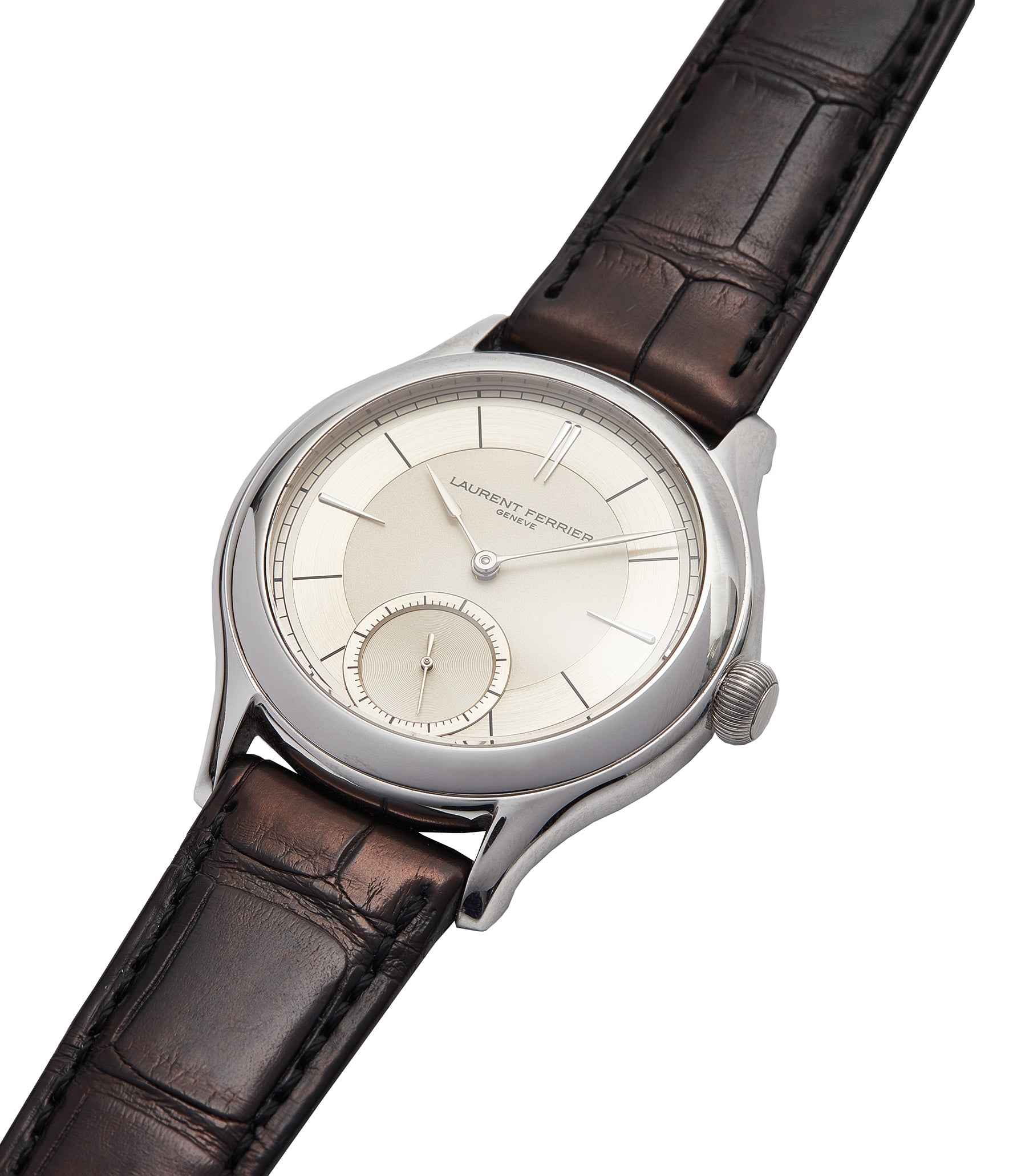 selling Laurent Ferrier Galet Micro-rotor 40 mm platinum time-only dress watch from independent watchmaker for sale online at A Collected Man London UK specialist of rare watches