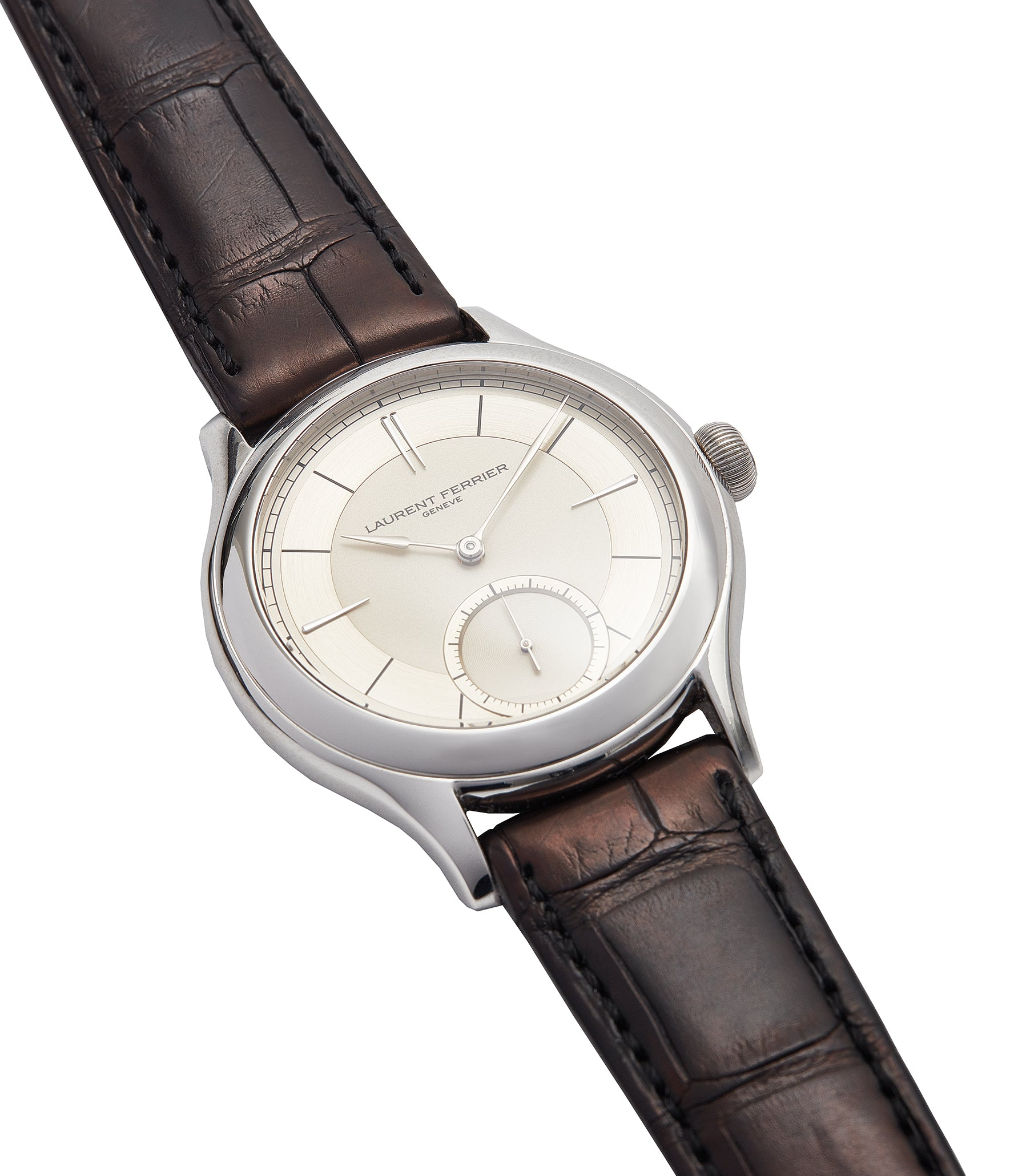 buying Laurent Ferrier Galet Micro-rotor 40 mm platinum time-only dress watch from independent watchmaker for sale online at A Collected Man London UK specialist of rare watches