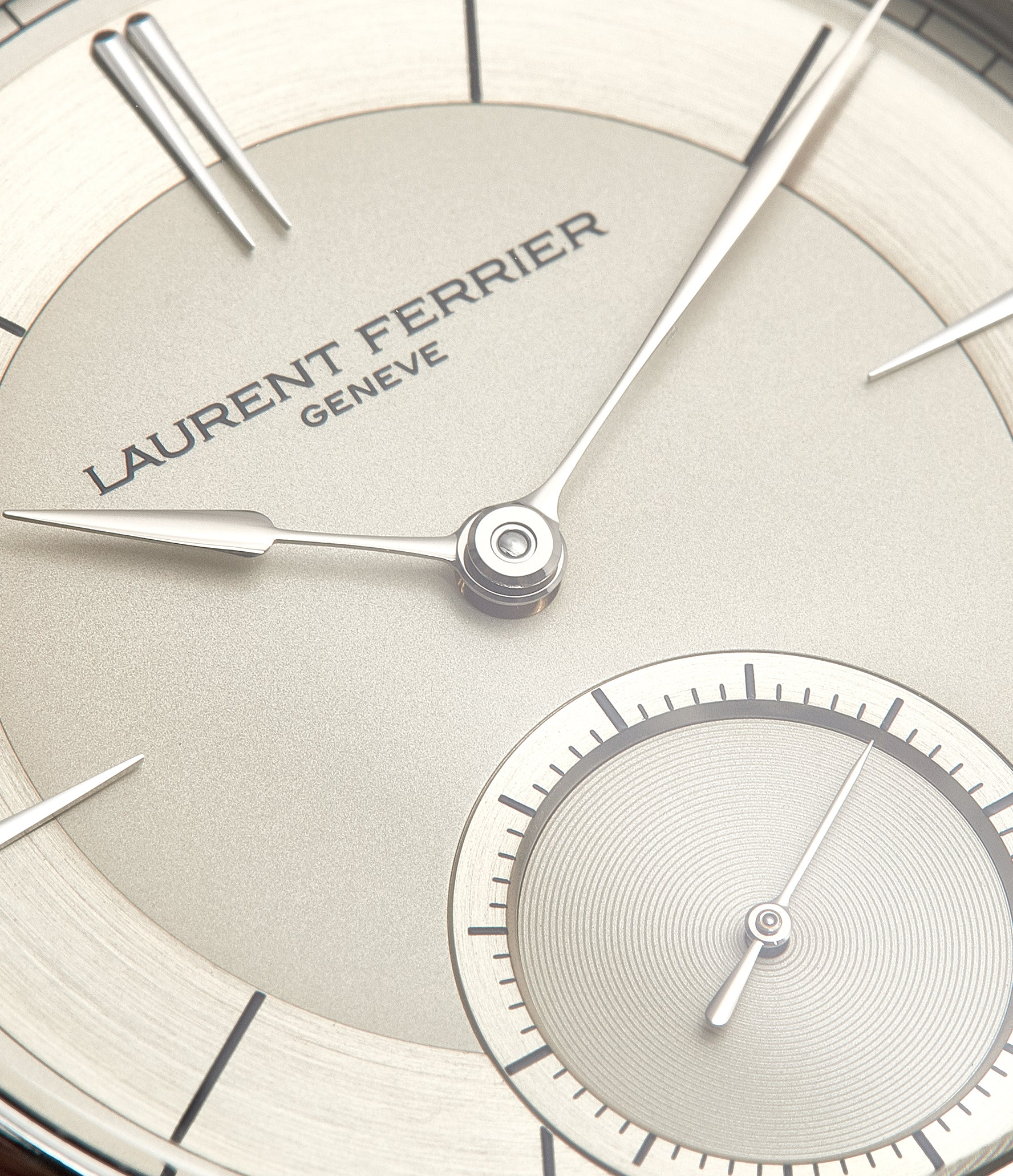 champagne dial piece unique Laurent Ferrier Galet Micro-rotor 40 mm platinum time-only dress watch from independent watchmaker for sale online at A Collected Man London UK specialist of rare watches