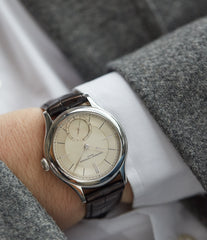 men's classic wristwatch Laurent Ferrier Galet Micro-rotor 40 mm platinum time-only dress watch from independent watchmaker for sale online at A Collected Man London UK specialist of rare watches