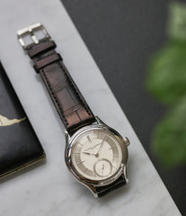 dress watch Laurent Ferrier Galet Micro-rotor 40 mm platinum time-only dress watch from independent watchmaker for sale online at A Collected Man London UK specialist of rare watches