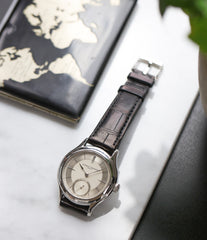 for sale Laurent Ferrier Galet Micro-rotor 40 mm platinum time-only dress watch from independent watchmaker for sale online at A Collected Man London UK specialist of rare watches