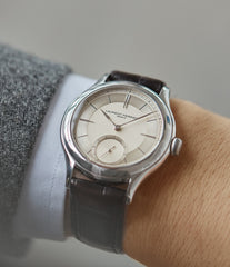 men's modern classic watch Laurent Ferrier Galet Micro-rotor 40 mm platinum time-only dress watch from independent watchmaker for sale online at A Collected Man London UK specialist of rare watches