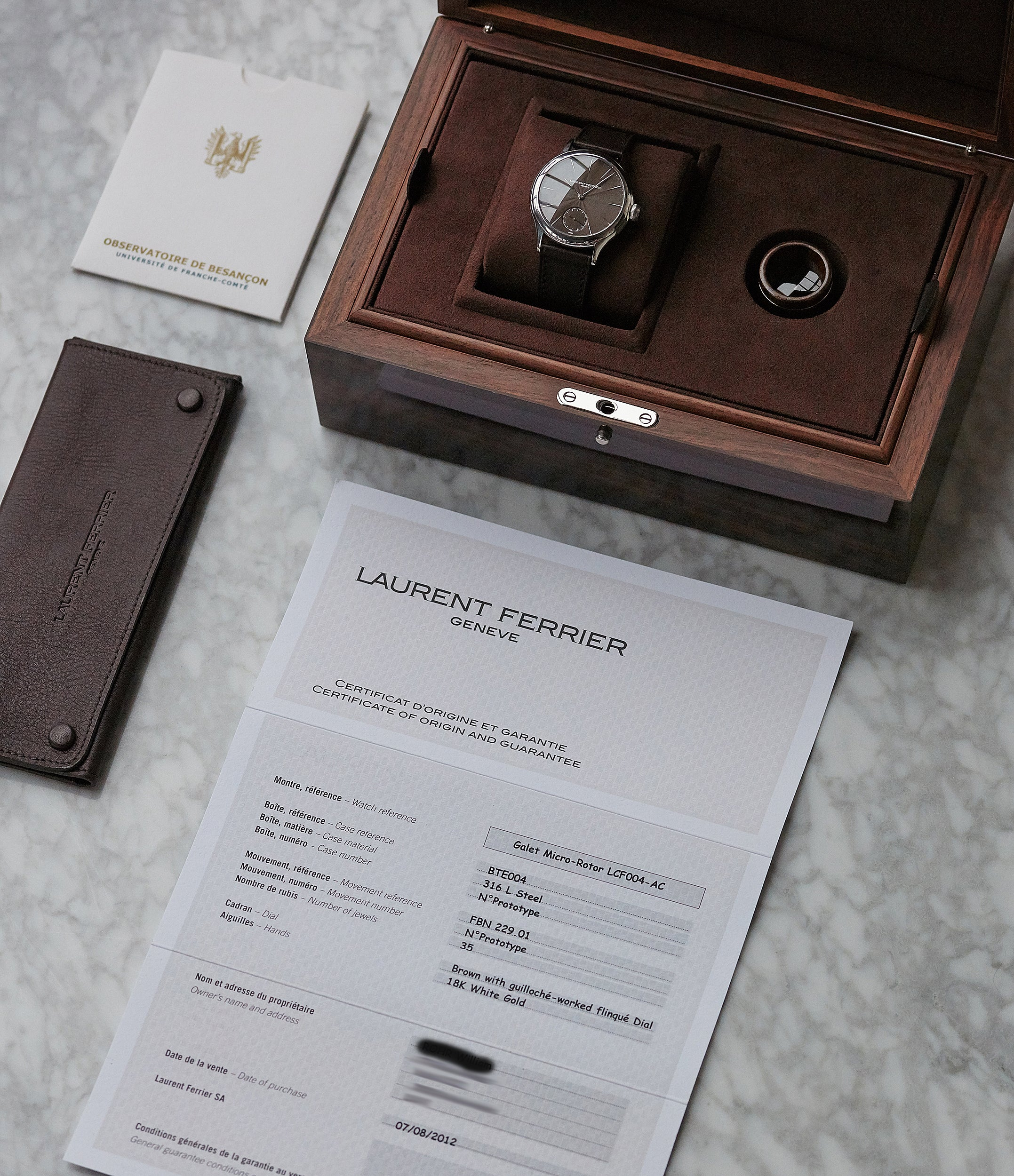 only Watch Laurent Ferrier Prototype Galet Micro-rotor LF 229.01 steel watch brown dial for sale online at A Collected Man London UK approved seller of independent watchmakers