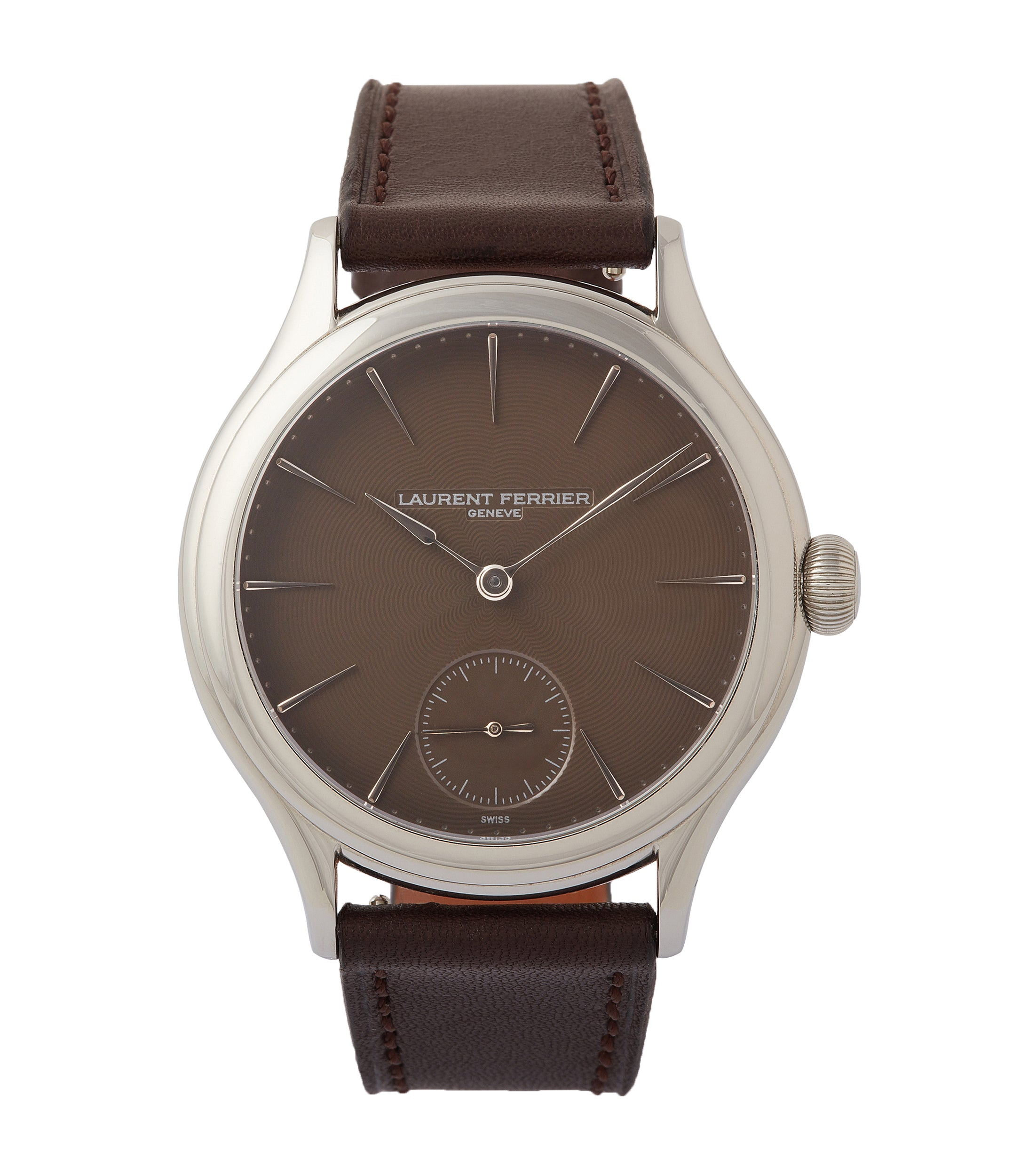 "buy Prototype Laurent Ferrier Galet Micro-rotor LF 229.01 ""Only Watch 2011"" steel watch brown dial for sale online at A Collected Man London UK approved seller of independent watchmakers"