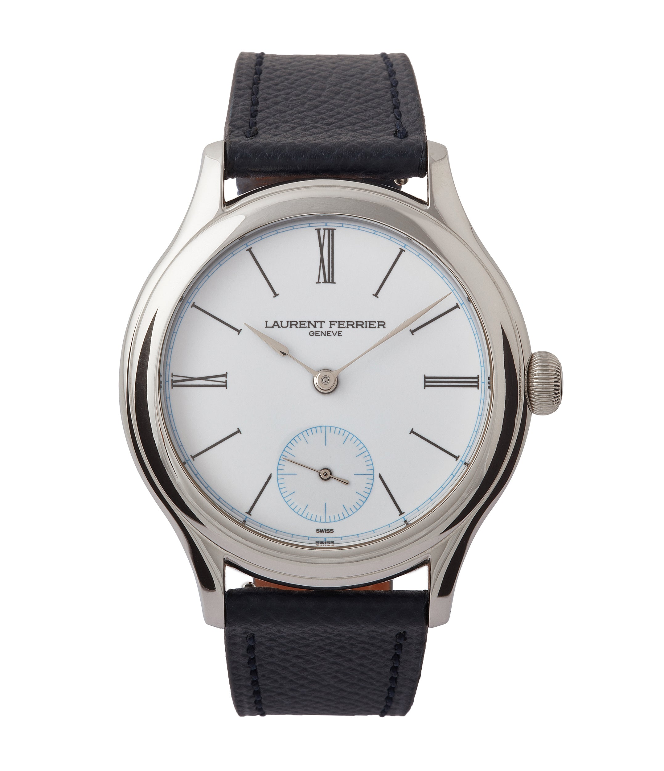 buy Laurent Ferrier Galet Micro-rotor platinum white enamel dial limited edition dress watch sale A Collected Man London UK specialist of independent watchmakers
