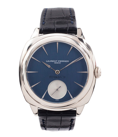 buy Laurent Ferrier Micro Rotor LF 229.01 Galet Square William&Son blue dial white gold watch online at A Collected Man London approved seller of preowned independent watchmakers