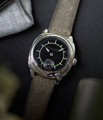 Laurent Ferrier Galet Square Boreal Micro-rotor steel sector dial watch by independent watchmaker for sale online at A Collected Man London UK specialist of rare watches