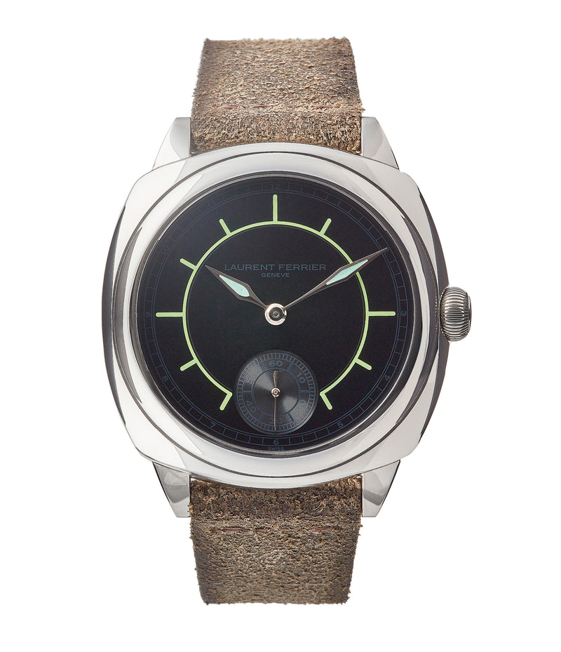 buy Laurent Ferrier Galet Square Boreal Micro-rotor steel sector dial watch by independent watchmaker for sale online at A Collected Man London UK specialist of rare watches