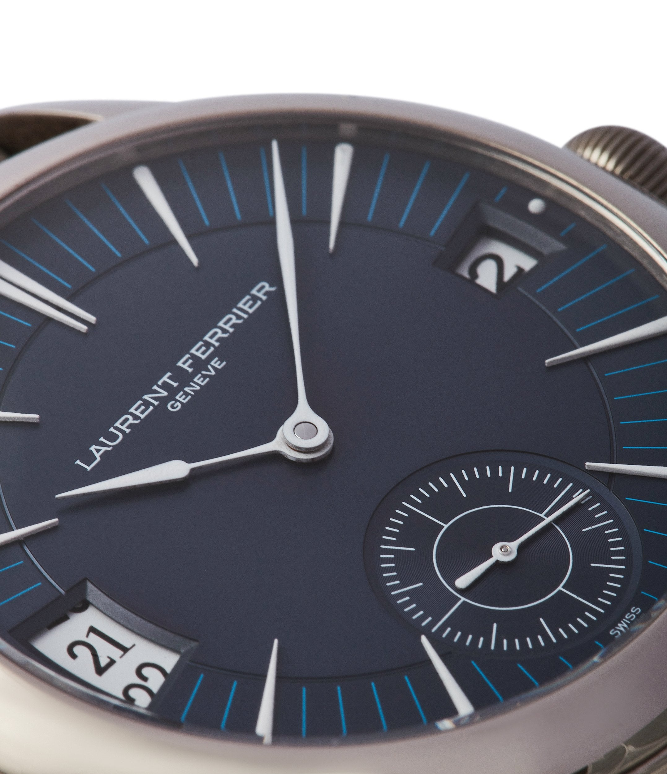 blue dial dress watch Laurent Ferrier Galet Traveller Micro-rotor blue dial pre-owned watch for sale online A Collected Man London UK specialist independent watchmakers