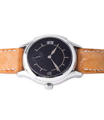 luxury Traveller watch Laurent Ferrier Galet Boreal steel dual-timezone black dial dress watch for sale online at A Collected Man London approved seller of pre-owned Laurent Ferrier independent watchmakers