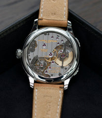 LF 230.02 automatic hand-finished movement buy Laurent Ferrier Galet Traveller Boreal steel dual-timezone black dial dress watch for sale online at A Collected Man London approved seller of pre-owned Laurent Ferrier independent watchmakers