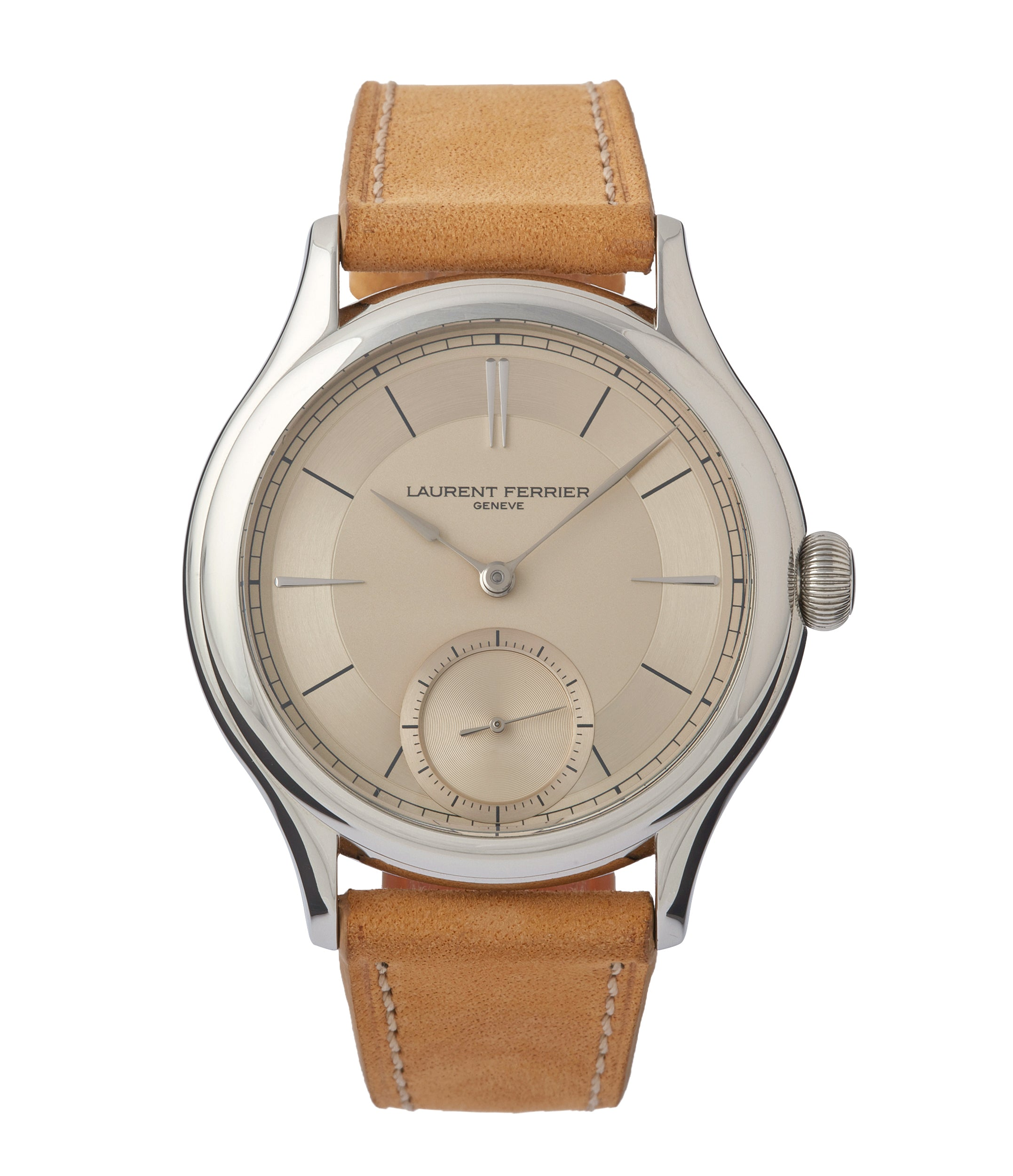 buy Laurent Ferrier Galet Micro-rotor special commission steel champagne dial dress luxury watch for sale online at A Collected Man London UK specialist of rare watches