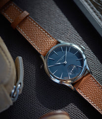 shop Laurent Ferrier Galet Micro-Rotor LF229.01 blue dial white gold watch for sale online at A Collected Man London UK approved seller of independent watchmaker Laurent Ferrier