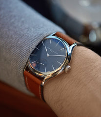 for sale Laurent Ferrier Galet Micro-Rotor LF229.01 blue dial white gold watch for sale online at A Collected Man London UK approved seller of independent watchmaker Laurent Ferrier