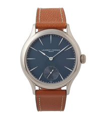 buy Laurent Ferrier Galet Micro-Rotor LF229.01 blue dial white gold watch for sale online at A Collected Man London UK approved seller of independent watchmaker Laurent Ferrier