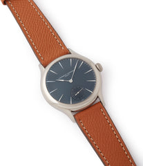 blue dial Laurent Ferrier Galet Micro-Rotor LF229.01 white gold watch for sale online at A Collected Man London UK approved seller of independent watchmaker Laurent Ferrier