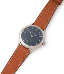 white gold Laurent Ferrier Galet Micro-Rotor LF229.01 blue dial dress watch for sale online at A Collected Man London UK approved seller of independent watchmaker Laurent Ferrier