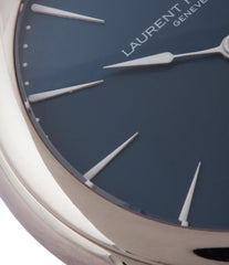blue dial white gold case Laurent Ferrier Galet Micro-Rotor LF229.01 blue dial white gold watch for sale online at A Collected Man London UK approved seller of independent watchmaker Laurent Ferrier