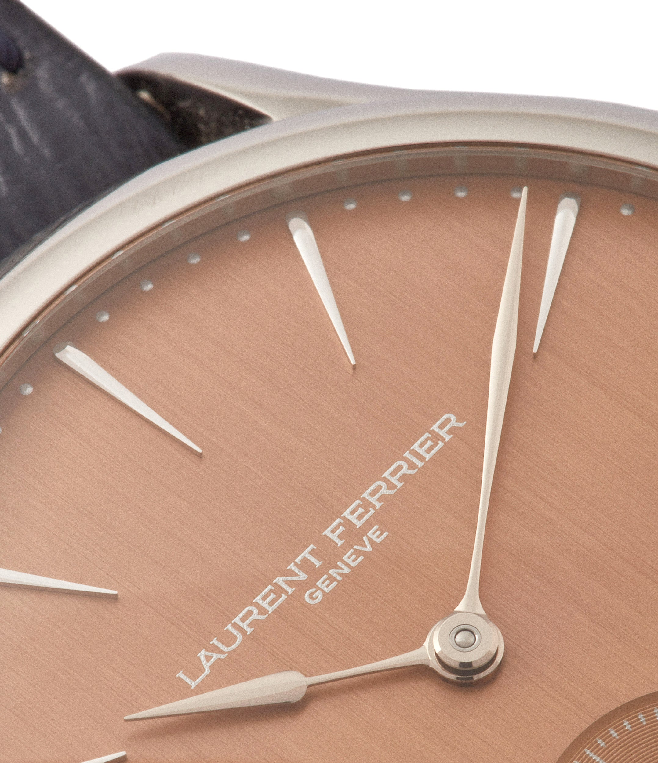 brushed salmon dial Laurent Ferrier Galet Micro-rotor FBN 229.01 steel rare watch for sale online at A Collected Man London approved re-seller of independent watchmakers