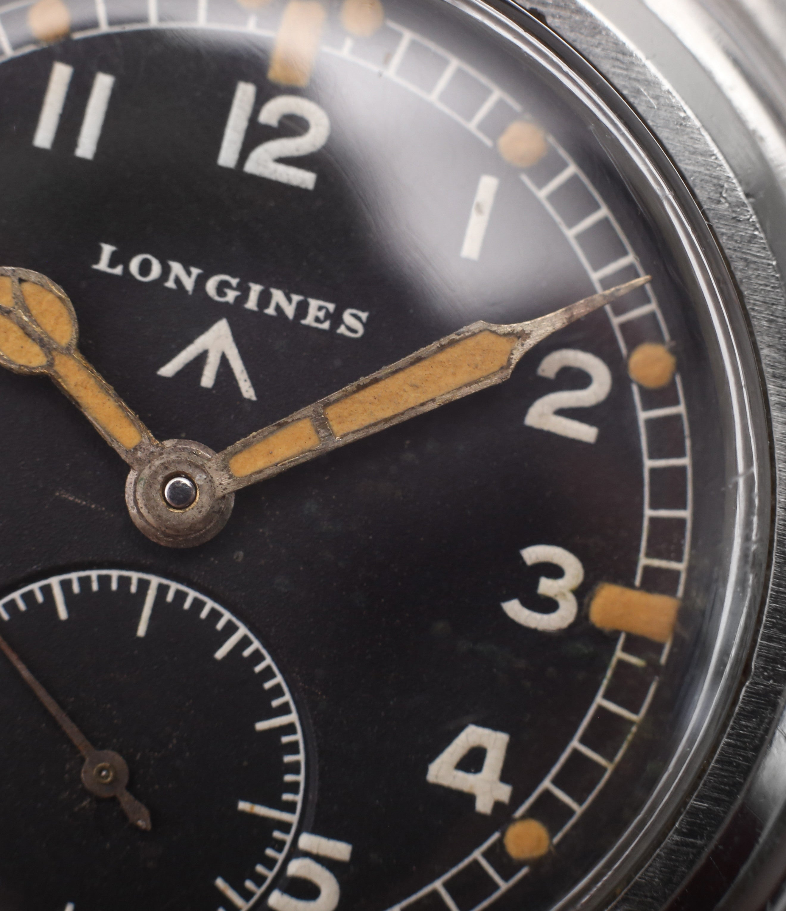 cathedral hands Longines WWW MoD British military vintage watch F6870 for sale online at A Collected Man London vintage watches specialist