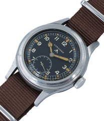 vintage Longines W.W.W. Dirty Dozen British military MoD steel chronometer-graded watch for sale online at A Collected Man London vintage military watch specialist