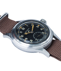 sell vintage Longines W.W.W. Dirty Dozen British military MoD steel chronometer-graded watch for sale online at A Collected Man London vintage military watch specialist